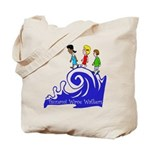 Tsunami Wave Walkers Tote Bag