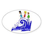 Tsunami Wave Walkers Oval Sticker