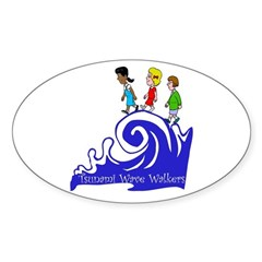 Tsunami Wave Walkers Oval Decal