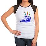 Tsunami Wave Walkers Women's Cap Sleeve T-Shirt
