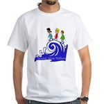 Tsunami Wave Walkers White T-Shirt