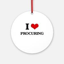 I Love Procuring Ornament (Round)