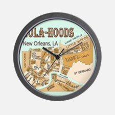 NOLA-Hoods Wall Clock