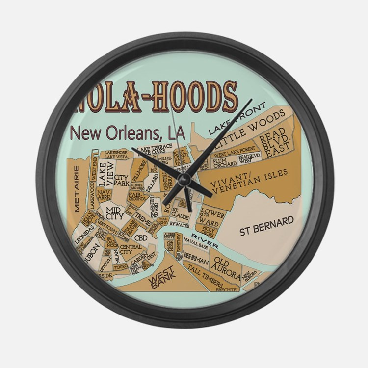 NOLA-Hoods Large Wall Clock