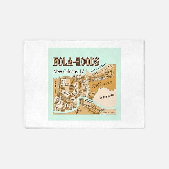 NOLA-Hoods 5'x7'Area Rug