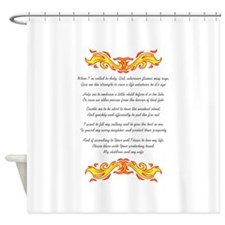 A FIREMANS PRAYER Shower Curtain