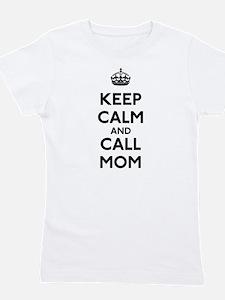 Keep Calm and Call Mom Girl's Tee