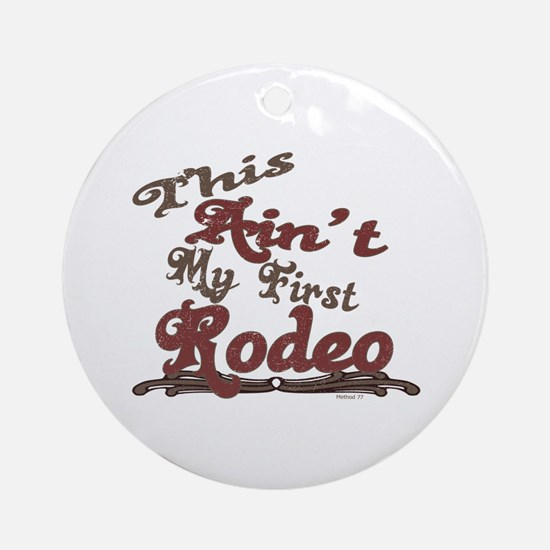 First Rodeo Ornament (Round)