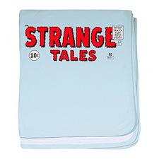 Strange Tales pulp logo baby blanket