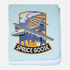 H-4 Hercules Spruce Goose flying boat baby blanket