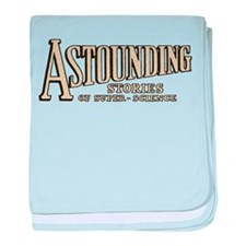 Astounding Stories pulp logo baby blanket