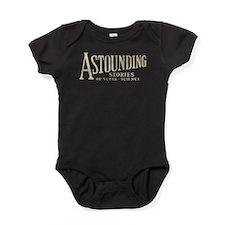 Astounding Stories pulp logo Baby Bodysuit