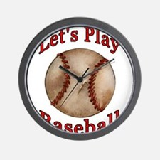 Baseball Player Kid Wall Clock