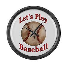 Baseball Player Kid Large Wall Clock