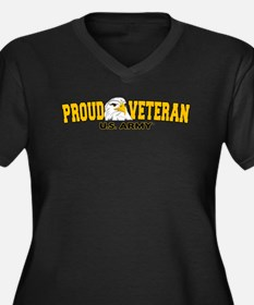 Proud Vetera Women's Plus Size V-Neck Dark T-Shirt