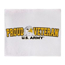 Proud Veteran - Army Throw Blanket