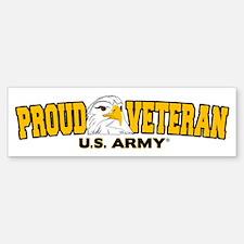 Proud Veteran - Army Bumper Bumper Sticker