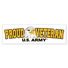 Proud Veteran - Army Bumper Sticker