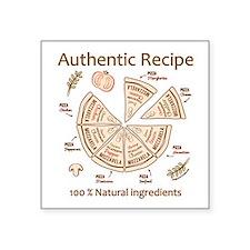 Pizza-Authentic Recipe Sticker