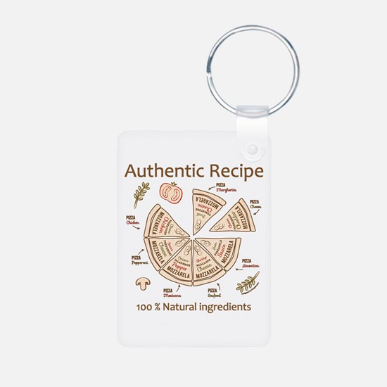 Pizza-Authentic Recipe Keychains