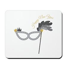New Year Mask Mousepad