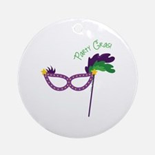 Party Gras Ornament (Round)