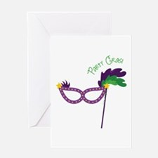 Party Gras Greeting Cards