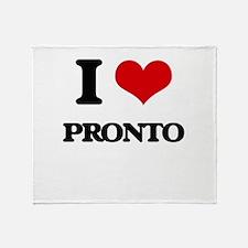 I Love Pronto Throw Blanket