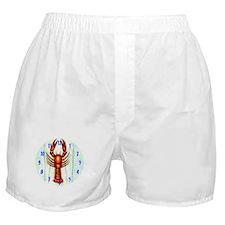 Crawfish, Lobster Clock Boxer Shorts