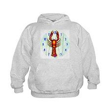 Crawfish, Lobster Clock Hoodie