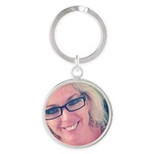 Pamela Theresa Round Keychain