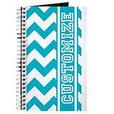 Chevron personalized Journals & Spiral Notebooks