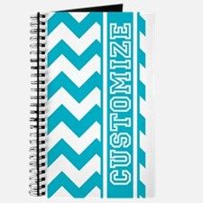 Personalized Scuba Blues Jam Chevron Pattern Journ