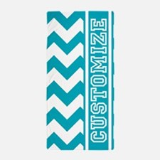 Personalized Scuba Blues Jam Chevron Pattern Beach
