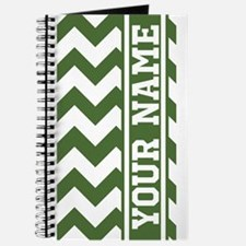 Personalized Green Tree Chevron Journal