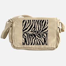 Zebra stripe, black & white Messenger Bag