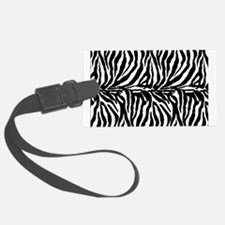 Zebra stripe, black & white Luggage Tag