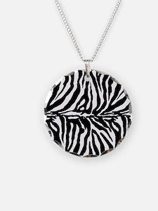Zebra stripe, black & white Necklace