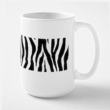 Zebra stripe, black & white Mug