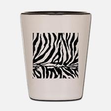 Zebra stripe, black & white Shot Glass