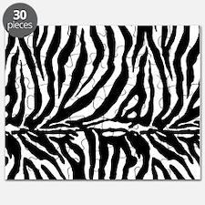 Zebra stripe, black & white Puzzle