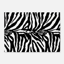 Zebra stripe, black & white 5'x7'Area Rug