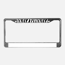 Zebra stripe, black & white License Plate Frame