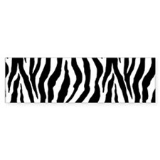 Zebra stripe, black & white Bumper Sticker