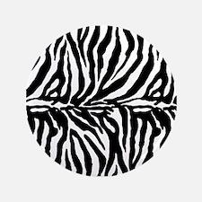"Zebra stripe, black & white 3.5"" Button"