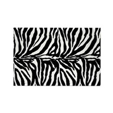 Zebra stripe, black & white Rectangle Magnet