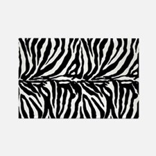 Zebra stripe, black & white Rectangle Magnet