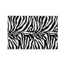 Zebra stripe, black & Rectangle Magnet (100 pack)