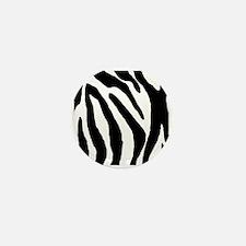 Zebra stripe, black & white Mini Button (10 pack)
