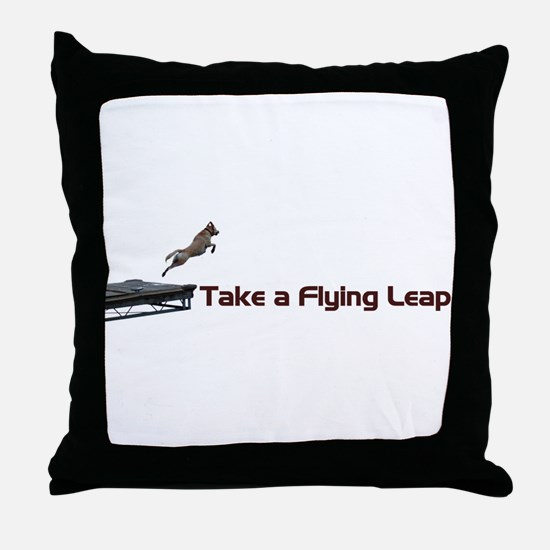 Flying Leap Throw Pillow
